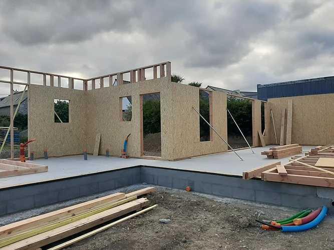 En cours : construction d''une maison à Binic (22) 0