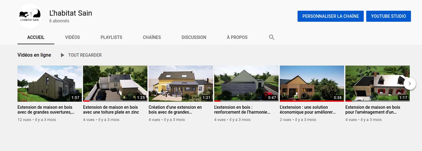 L''Habitat Sain sur Youtube ! 0
